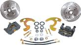 "1964-74 Chevy II / Nova; 1967-69 F-Body Front Brake System with 10-3/4"" Drilled/Slotted Rotors"
