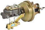 "1958-64 4 Wheel Disc 8"" Brake Booster / Master Cylinder / Proportioning Valve Combo With Gold Finish"
