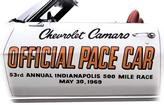 1969 CAMARO INDY 500 PACE CAR DOOR DECAL SET