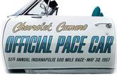 1967 Camaro Indy 500 Pace Car Door Decal Set