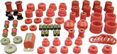1965-70 IMPALA / FULL SIZE 2 DOOR HARDTOP RED POLYURETHANE BUSHINGS SET