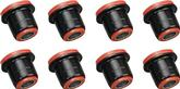 1958-64 IMPALA / FULL SIZE  RED POLYURETHANE FRONT UPPER / LOWER CONTROL ARM BUSHINGS WITH SHELLS