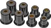 1974-79 IMPALA/FULL SIZE BLACK POLYURETHANE FRONT UPPER/LOWER CONTROL ARM BUSHING SET (1.625 LOWER)