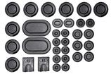 1967 Mustang / CougarRubber Body Plug Kit - 33 piece set