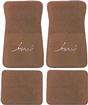 "1974-90 Impala Camel Tan Cut Pile Floor Mats With Black ""Impala"" Script"