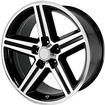 1947-96 GM CARS & TRUCKS -  18 X 8 IROC REPLICA WHEEL (MACHINED FACE/GLOSS BLACK)