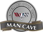 "18"" X 14"" V-Flag Man Cave Metal Sign"