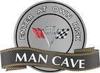 "18"" x 14"" 383 V-Flag Man Cave Metal Sign"