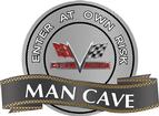 "18"" x 14"" 427 V-Flag Man Cave Metal Sign"