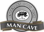 18 X 14  BODY BY FISHER MAN CAVE METAL SIGN
