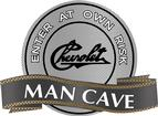 "18"" x 14"" Vintage Chevrolet Script Man Cave Metal Sign"