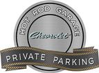 "18"" x 14"" Hot Rod Garage 66/68 Chevrolet Private Parking Metal Sign"