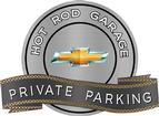 "18"" x 14"" Hot Rod Garage 2010 Bow Tie Private Parking Metal Sign"