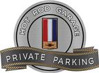 "18"" X 14"" Hot Rod Garage 82 Berlinetta Private Parking Metal Sign"