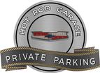 "18"" X 14"" Hot Rod Garage Chevy V8 Crest Private Parking Metal Sign"