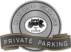 "18"" X 14"" Hot Rod Garage Body By Fisher Private Parking Metal Sign"