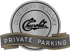"18"" x 14"" Hot Rod Garage Vintage Chevrolet Script Private Parking Metal Sign"