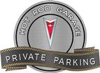"18"" X 14"" Hot Rod Garage Red Pontiac Crest Private Parking Metal Sign"