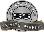 "18"" x 14"" Hot Rod Garage SS Private Parking Metal Sign"