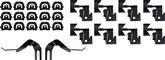 1965-67 Impala / Caprice 2 Door Hardtop Windshield Molding Clip Kit