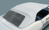 1967-69 F-Body Convertible Top Kit White Top with Black Well Liner and Glass Rear Window