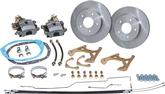 1968-69 Camaro, 1968-74 Nova Rear Disc Brake Conversion Set with Plain Rotors and Rubber Hoses
