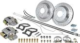 "1967-72 C10 Pickup 1/2 Ton 2WD 5 Lug Big Brake Rear Disc Conversion Set with 12"" Drilled Rotors"