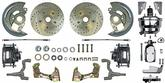 1968-69 F-Body, 1968-74 Nova Front Power Disc Brakes Drilled/Slotted Rotors Chrome M/C & Booster