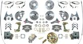 1967 4 WHEEL POWER DISC BRAKE CONV KIT W/NON-STAGGERED REAR SHOCKS DRILLED/SLOTTED ROTORS