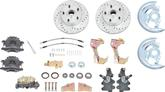 "1967-69 F-Body; 1968-74 Nova Performance Front Power Disc Brake Conversion Set with 2"" Drop Spindels"