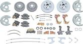 1967 FOUR  WHEEL STANDARD  MANUAL DISC BRAKE CONVERSION KIT, NON-STAGGERED REAR  SHOCKS