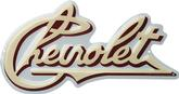 13 X 7 CHEVROLET EARLY SCRIPT METAL SIGN