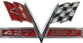 "28"" X 15"" 1967 Camaro 427 Turbo Jet Metal Sign"
