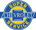 "24"" x 19"" Chevrolet Super Service Vintage Style Metal Sign"