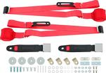 3-Point Conversion Bench Seat Belt Set - Red