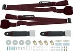 3-Point Conversion Bench Seat Belt Set - Burgundy