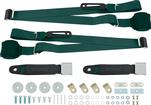 3-Point Conversion Bench Seat Belt Set - Dark Green