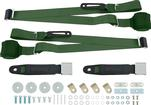 3-Point Conversion Bench Seat Belt Set - Green