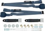 3-Point Conversion Bench Seat Belt Set - Blue