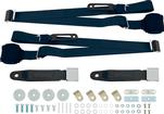 3-Point Conversion Bench Seat Belt Set - Dark Blue
