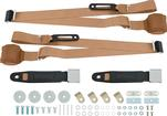 3-Point Conversion Bench Seat Belt Set - Tan