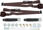 3-Point Conversion Bench Seat Belt Set - Dark Brown