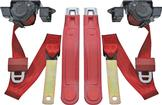 1974-81 F/X-BODY BUCKET SEAT BELTS OEM STYLE FRONT RED