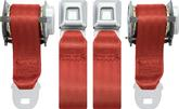 1974-81 Camaro, 1978-81 Firebird, 1974-79 Nova Red OEM Style Rear Bucket Seat Belts