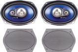 1970-72 Plymouth A-Body Headlamp Bezels - Pair - Argent Silver