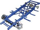 1955-59 GM Truck Small Block TCI Chassis Stage II Narrowed Pro-Street Frame with Coil-Overs