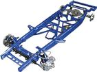 1955-59 GM Truck Big Block TCI Chassis Stage II Narrowed Pro-Street Frame with Coil-Overs