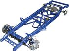 1955-59 GM Truck Small Block TCI Chassis Stage III Narrowed Pro-Street Frame with Coil-Overs