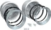 1947-57 Gm Truck & 1949-57 Chevrolet Car Frenched Headlamp Conversion Set With Bare Steel Trim Rings