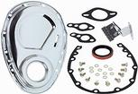 1955-91 CHEVROLET 262-400 SMALL BLOCK TIMING COVER SET (CHROME )